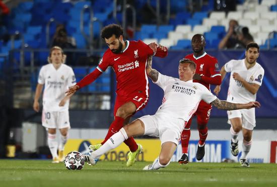 레알마드리드가 FC바르셀로나를 2대 1로 꺾고 정규리그 1위를 탈환했다./사진=로이터