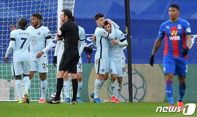 크리스털 팰리스에 4-1 대승을 거둔 첼시. © AFP=뉴스1