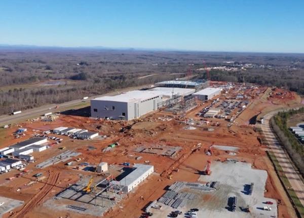 SK이노베이션이 미국 조지아주에 건설 중인 전기자동차용 배터리 공장 전경. /사진=SK이노베이션