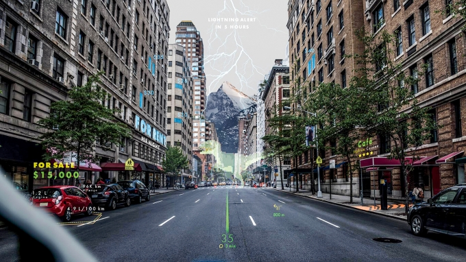 투명한 차 유리, 증강현실 만나 '정보의 창' 된다