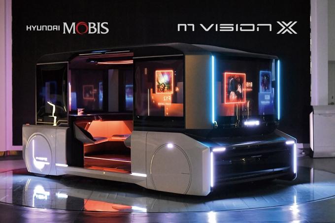 최근 현대모비스는 도심 공유형 모빌리티 콘셉트카 '엠비전 X'와 '엠비전 POP'을 공개하고 신기술을 시연했다. 완전자율주행시대를 가정해 대비하는 차원이다. /사진제공=현대모비스