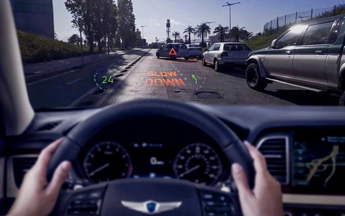 현대자동차그룹 증강현실(AR) 내비게이션. /사진제공=현대자동차그룹
