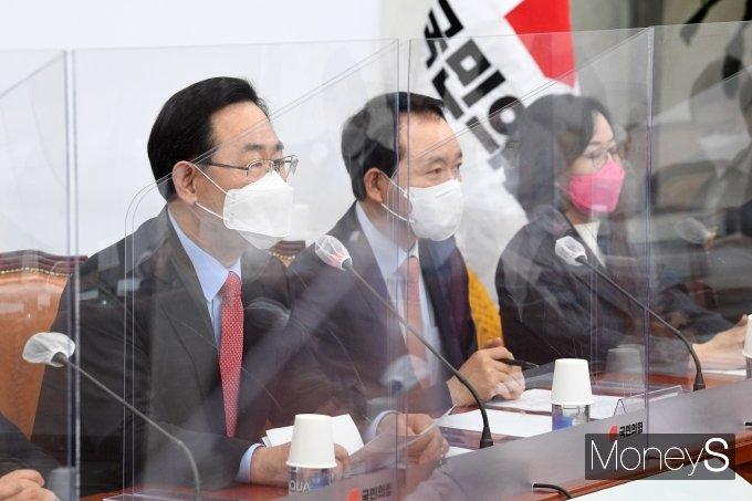 [머니S포토] 주호영 국민의힘 대표 권한대행의 발언