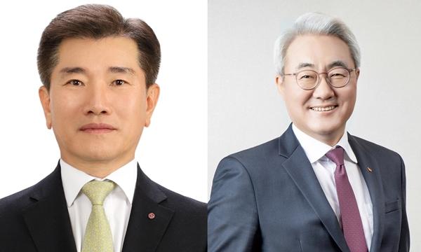 김종현 LG에너지솔루션 사장(왼쪽)과 김준 SK이노베이션 사장. /사진=각 사