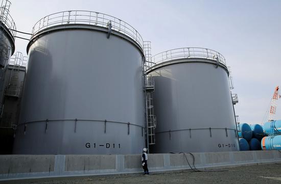 일본 정부가 후쿠시마 제1원전 오염수 해양 방류를 공식 결정했다. 사진은 후쿠시마 제1원전 오염수 저장용 탱크. /사진=로이터