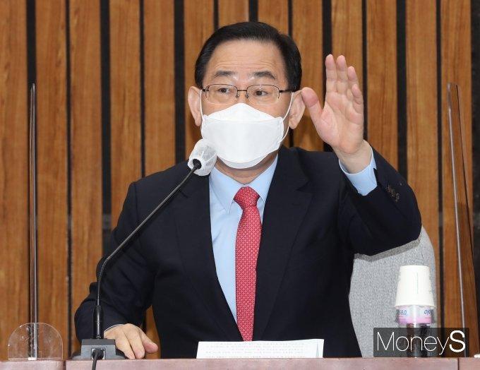 """[머니S포토] 주호영 """"국민의당과 합당부터 정리하고 당대표 출마 결정하겠다"""""""