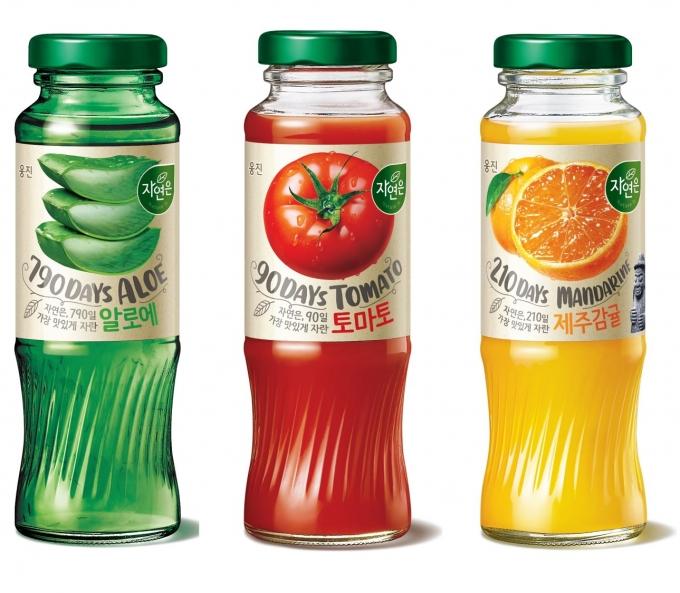 웅진식품이 주스 브랜드 '자연은'의 디자인을 리뉴얼한다. /사진=웅진식품
