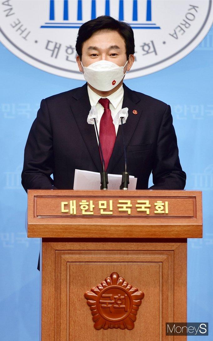 [머니S포토] 원희룡 제주지사, 日 원전 오염수 방류 결정 규탄 기자회견