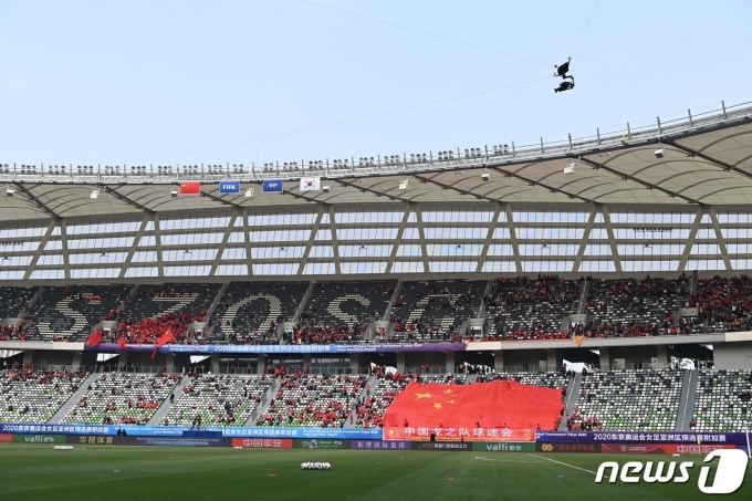 [사진] 경기 앞둔 쑤저우올림픽축구센터