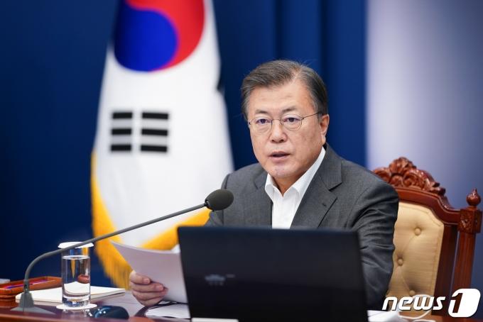 문재인 대통령. 2021.4.12/뉴스1 © News1 유승관 기자