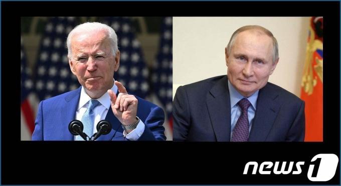 조 바이든 미국 대통령(좌)와 블라디미르 푸틴 러시아 대통령. © AFP= 뉴스1