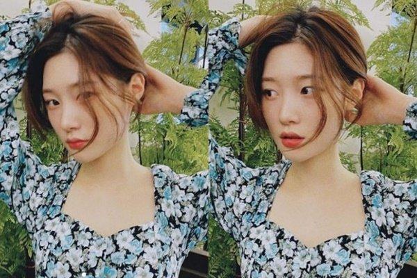 """""""머리 묶는 게 예뻐?""""… 정채연, 목선 예술이네"""