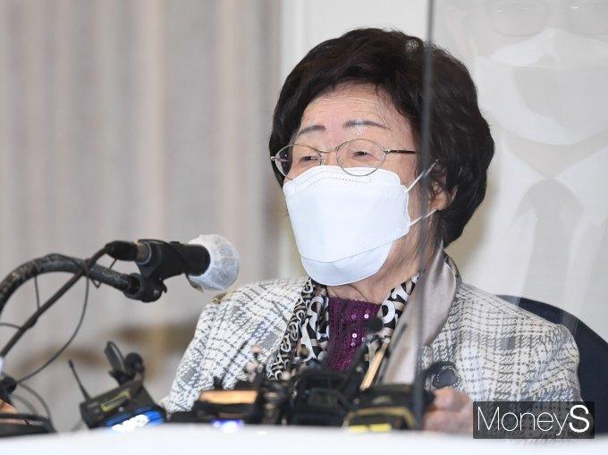 """[머니S포토] 이용수 할머니 """"위안부 문제 ICJ 회부 촉구"""""""