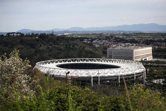 오는 6월 11일(한국시각) 유럽 11개국 12개 도시에서 2021 유럽축구선수권대회가 열린다. 해당 경기장은 이탈리아 로마에 위치한 로마 올림피아스타디움으로 이 곳에서는 총 4경기가 열릴 예정이다. /사진=로이터