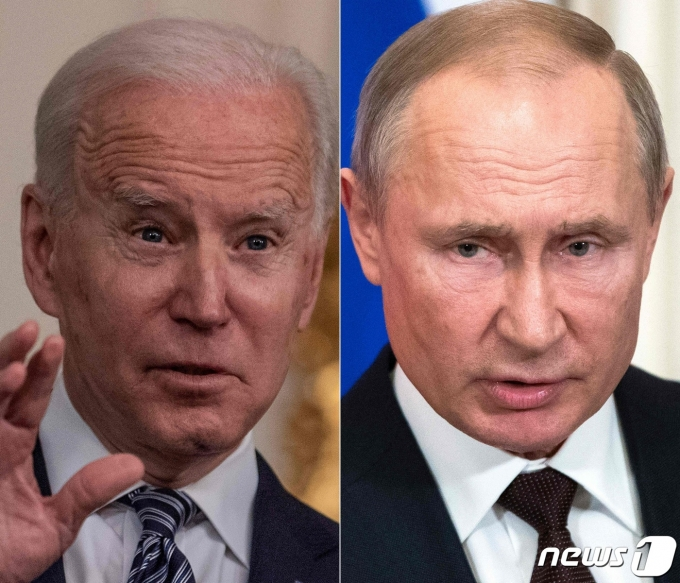 조 바이든 미국 대통령(왼쪽)과 블라디미르 푸틴 러시아 대통령. © AFP=뉴스1