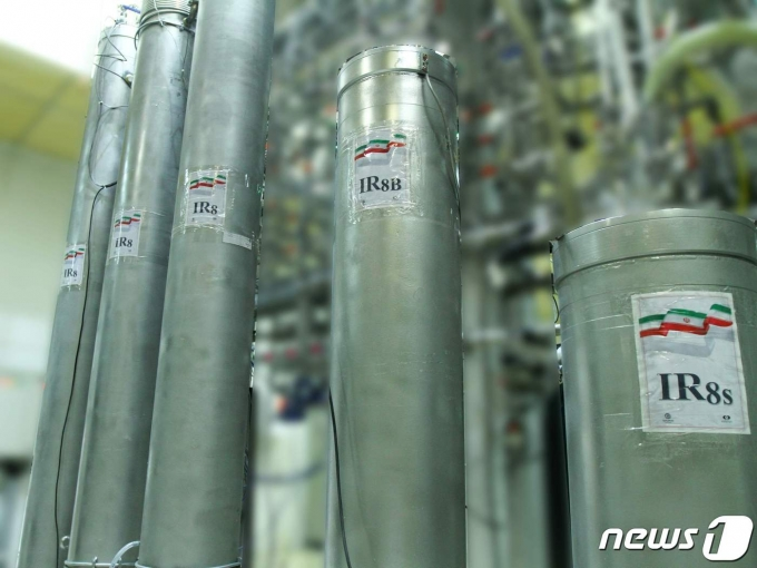 이란 수도 테헤란에서 남쪽으로 약 300km 떨어진 나탄즈 핵 시설의 IR-8 원심분리기. © AFP=뉴스1 자료 사진