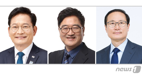 송영길·우원식·홍영표 더불어민주당 의원© News1 이지원 디자이너