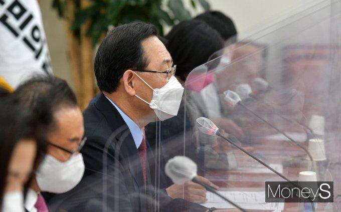 [머니S포토] 비상대책위원회의서 발언하는 주호영 권한대행