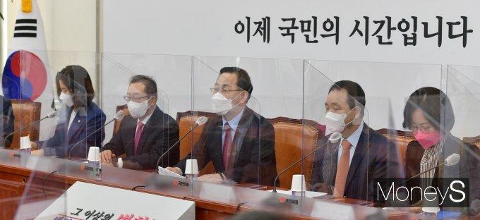 """[머니S포토] 주호영 """"국민의당과 합당문제, 다음 주 결론"""""""