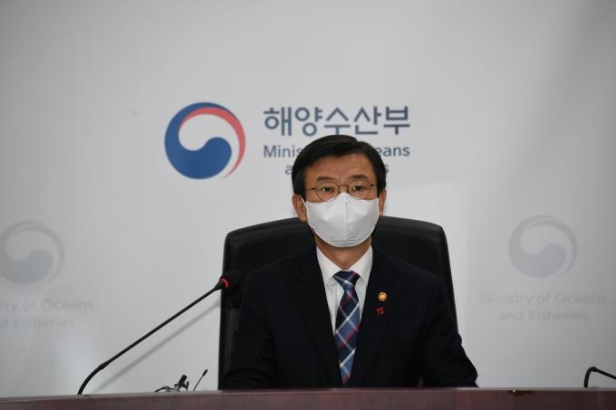 """문성혁 해양수산부 장관은 일본 후쿠시마 원전 오염수 방출과 관련해 """"우리 국민의 건강과 안전이 위협받지 않도록 필요한 모든 조치를 검토하고 있다""""고 말했다. /사진=해양수산부"""