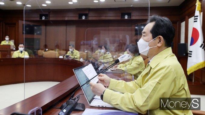 """[머니S포토] 정세균 총리 """"이번달까지 300만명 이상 1차 접종 완료할 것"""""""