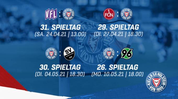 독일축구연맹(DFL)은 지난 15일 오후(현지시간) 신종 코로나바이러스 감염증 확진자 발생으로 연기된 홀슈타인 킬의 추후 경기 일정을 확정 발표했다. /사진=홀슈타인 킬 구단 공식 홈페이지