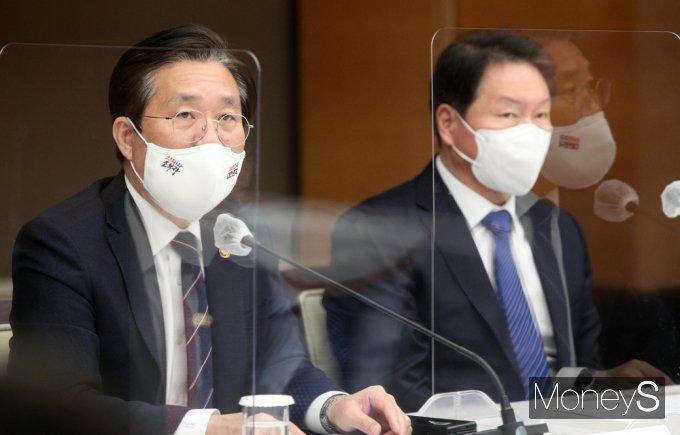 """[머니S포토] 성윤모 """"탄소중립, 화석연료 의존도 등 높은 우리나라에 매우 어려운 과제"""""""