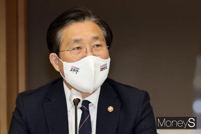 [머니S포토] 탄소중립 관련 발언하는 성윤모 산업 장관