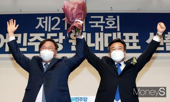 [머니S포토] '친문' 윤호중, 민주당 새 원내사령탑