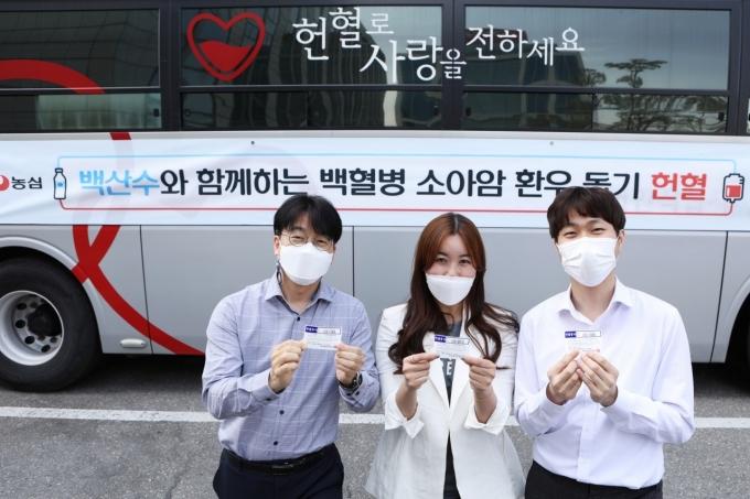 농심은 지난 15일 서울 동작구 신대방동 본사를 비롯해 안양·안성·아산·구미·부산 등 전국 공장에서 헌혈 캠페인을 진행했다. /사진=농심