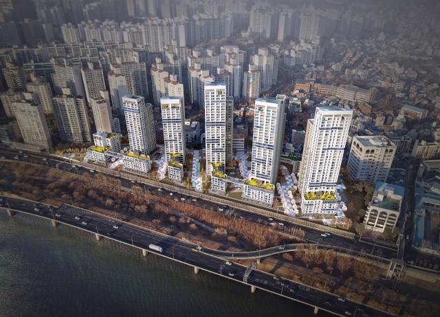 서울 용산구 산호아파트 재건축사업 조감도. /사진제공=서울시