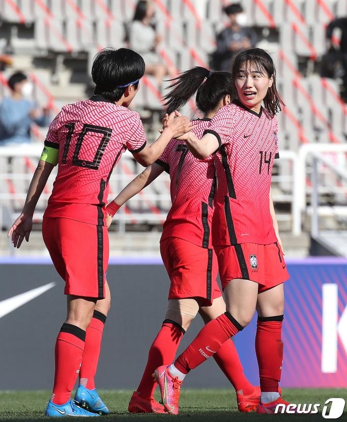 한국 여자축구 세계랭킹 19위를 기록했다. © News1 임세영 기자