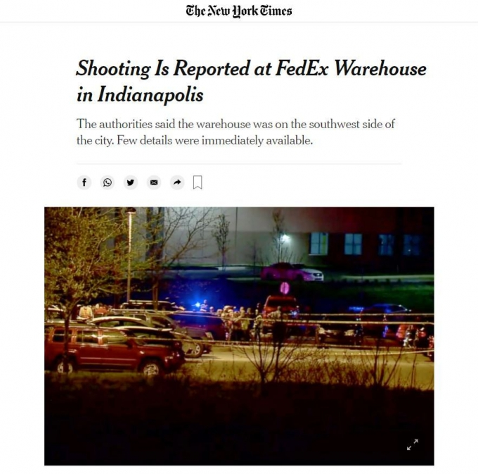 (뉴욕타임스 웹사이트 캡처) © 뉴스1