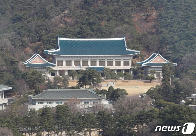 서울 광화문 도심에서 바라본 청와대 모습. /뉴스1 © News1 박정호 기자