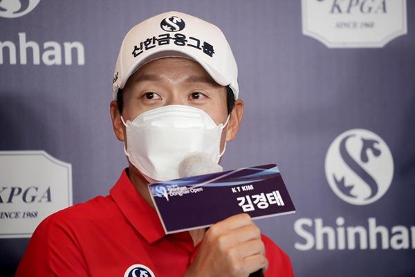 김경태가 지난해 9월9일 인천 서구의 베어즈베스트 청라 골프클럽에서 열린 '제36회 신한동해오픈' 공식 기자회견에서 질문에 답변하고 있다. /사진=뉴스1