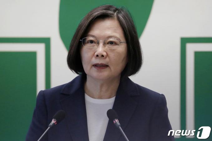 차이잉원 대만 총통 <자료사진> © 로이터=뉴스1 © News1 우동명 기자