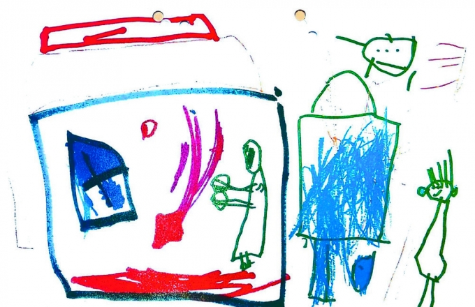 친부와 계모의 학대로 사망한 천루이린이 생전에 그린 그림 © 뉴스1