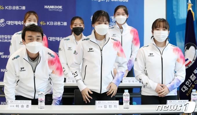 춘천시청 '팀 민지' 선수들. 2021.3.22/뉴스1 © News1 김진환 기자