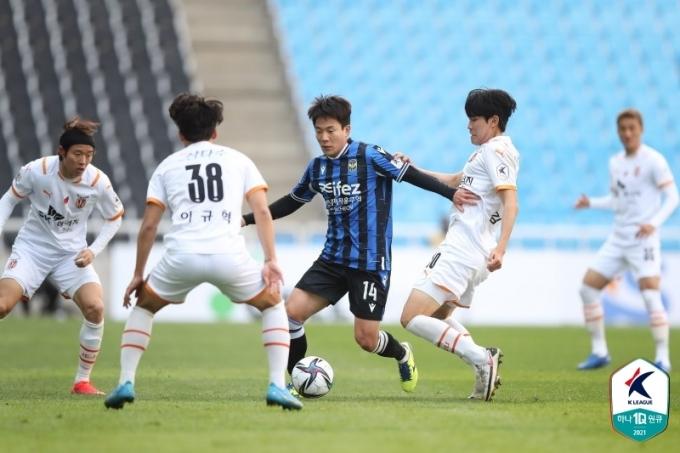 제주가 인천을 3-0으로 이겼다.(한국프로축구연맹 제공)© 뉴스1