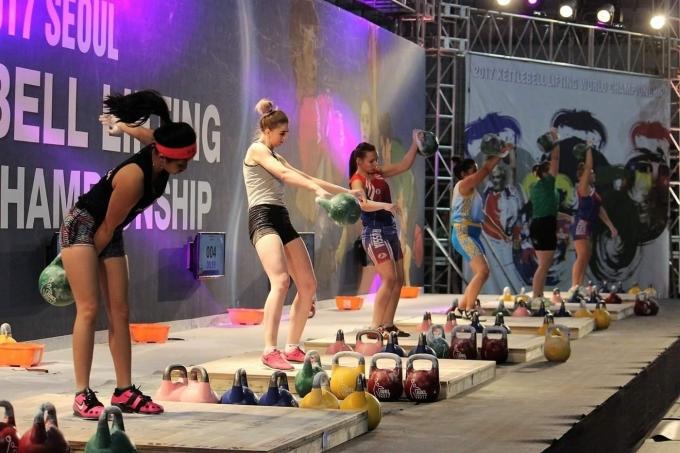 한국에서 열린 케틀벨리프팅 월드컵 모습(케틀벨리프팅협회 제공)© 뉴스1