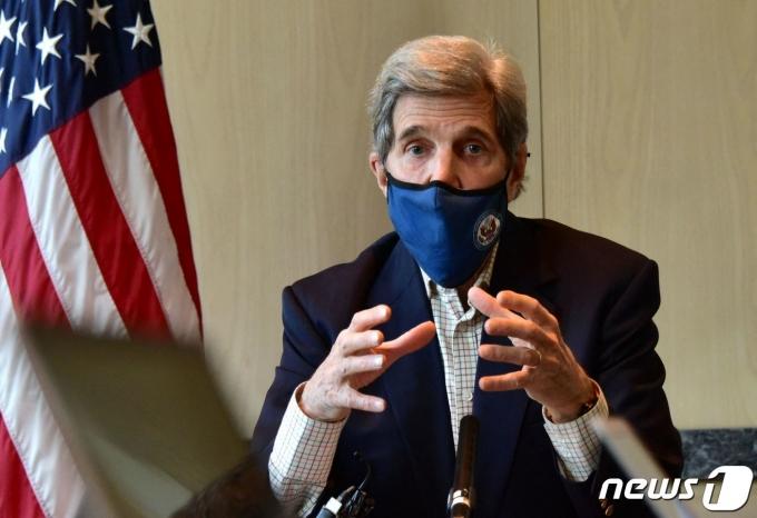 존 케리 미국 대통령 기후특사 © AFP=뉴스1