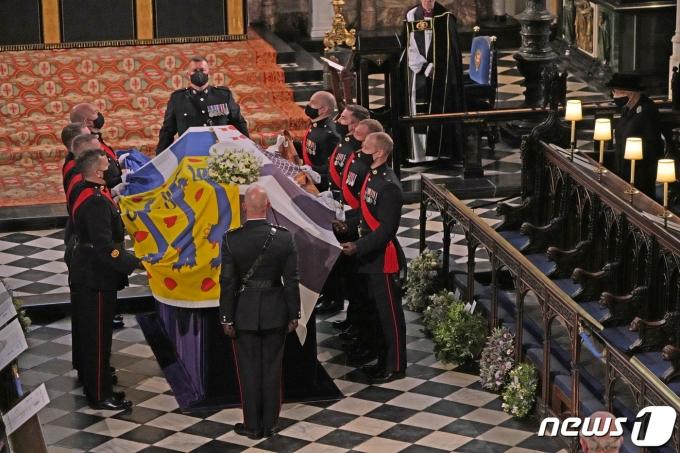 필립공 장례식 © 로이터=뉴스1 © News1 원태성 기자