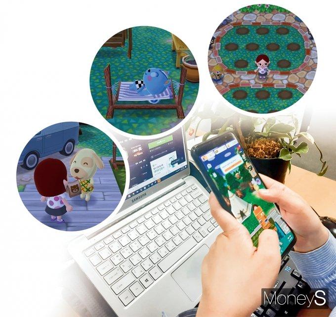 '동물의숲 포켓캠프' 플레이 화면. 게임 내 NPC가 의뢰한 물건을 가져다주면서 친목도를 높일 수 있다. /사진=게임화면 캡처