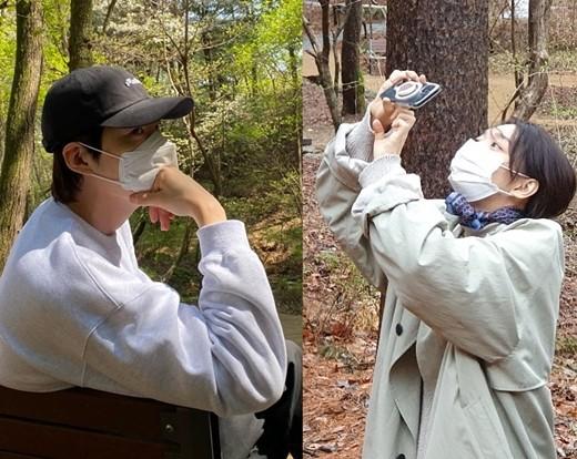 김우빈과 신민아의 럽스타그램이 화제를 모으고 있다. /사진=김우빈, 신민아 인스타그램