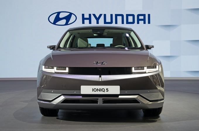 중국 상하이 모터쇼에서 공개된 아이오닉5./사진=현대자동차