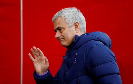 토트넘은 19일 오후(한국시각) 조세 무리뉴 감독과의 결별 소식을 공식 발표했다. /사진=로이터