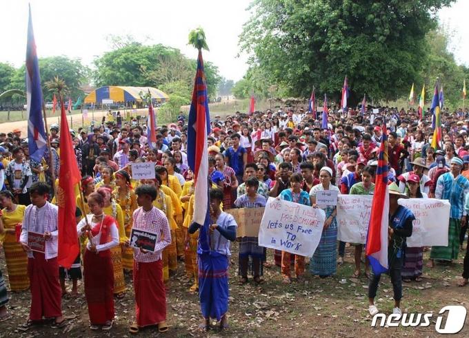 미얀마의 반군부 시위. © AFP=뉴스1