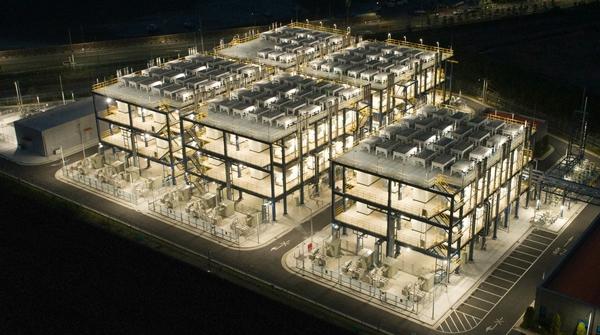 두산퓨얼셀이 연료전지 주기기 114대를 공급한 대산 수소연료전지발전소. /사진=두산