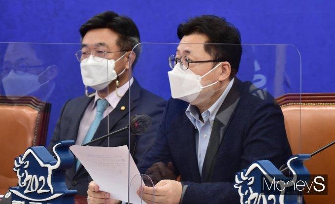 """[머니S포토] 홍익표 """"종부세 완화정책 검토된적 없어"""""""