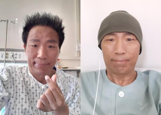 김철민이 8차 항암 치료 중 팬들에게 근황을 전했다. /사진=김철민 페이스북